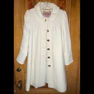 Juicy C. Ivory/Off-White Over Coat w/ Back Detail